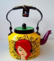 Cleopatra Tea Kettle | Craft by artist Rithika Kumar | Aluminium