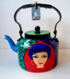 Free Spirit Women Tea Kettle | Craft by artist Rithika Kumar | Aluminium