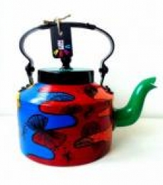 Color Fix Tea Kettle | Craft by artist Rithika Kumar | Aluminium