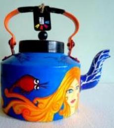 Mermaid Tea Kettle | Craft by artist Rithika Kumar | Aluminium