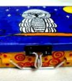 Its A Hoot Trinket Box | Craft by artist Rithika Kumar | Aluminium