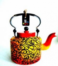 Designer Tea Kettle | Craft by artist Rithika Kumar | Aluminium