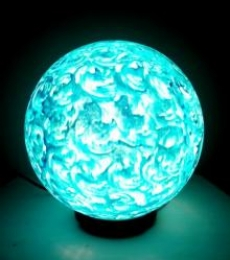 Blue Mint Lollipop Table Lamps | Craft by artist Rithika Kumar | Reinforced Acrylic