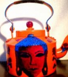 Rithika Kumar | Buddha Tango Tea Kettle Craft Craft by artist Rithika Kumar | Indian Handicraft | ArtZolo.com