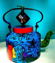 Ethinic India Tea Kettle | Craft by artist Rithika Kumar | Aluminium