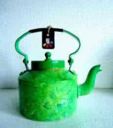 Rithika Kumar | Foliage Textured Tea Kettle Craft Craft by artist Rithika Kumar | Indian Handicraft | ArtZolo.com