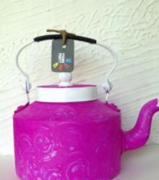 Magenta Magic Textured Tea Kettle | Craft by artist Rithika Kumar | Aluminium