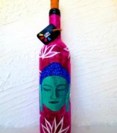 Rithika Kumar | Shades Of Buddha Hand Painted Glass Bottles Craft Craft by artist Rithika Kumar | Indian Handicraft | ArtZolo.com