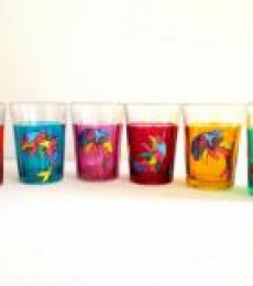 Dolphin Cutting Chai Glasses | Craft by artist Rithika Kumar | Glass