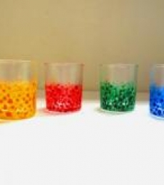 Colorful Bubble Glasses | Craft by artist Rithika Kumar | Glass