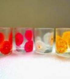 Flowery Glasses | Craft by artist Rithika Kumar | Glass
