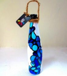 Rithika Kumar | Bottle Planter Fluid Blue Craft Craft by artist Rithika Kumar | Indian Handicraft | ArtZolo.com