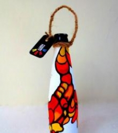 Rithika Kumar | Bottle Planter Fluid Red Craft Craft by artist Rithika Kumar | Indian Handicraft | ArtZolo.com
