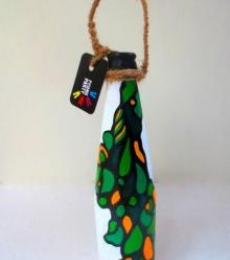 Rithika Kumar | Bottle Planter Fluid Green Craft Craft by artist Rithika Kumar | Indian Handicraft | ArtZolo.com