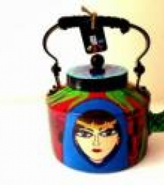 Banjara Tea Kettle | Craft by artist Rithika Kumar | Aluminium