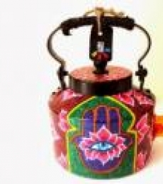 Third Eye Tea Kettle | Craft by artist Rithika Kumar | Aluminium