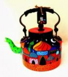 Whimsical Palace Tea Kettle | Craft by artist Rithika Kumar | Aluminium
