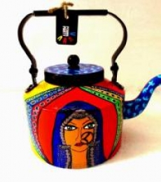 Rithika Kumar | Banjaran Beauty Tea Kettle Craft Craft by artist Rithika Kumar | Indian Handicraft | ArtZolo.com