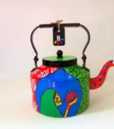 Lotus Tea Kettle | Craft by artist Rithika Kumar | Aluminium