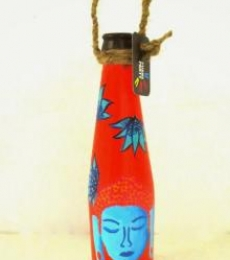 Bottle Planter Shades Of Buddha-Vermillion | Craft by artist Rithika Kumar | Recycled Glass