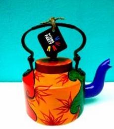 Gypsy Tea Kettle   Craft by artist Rithika Kumar   Aluminium