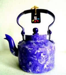 Purple Rain Textured Tea Kettle | Craft by artist Rithika Kumar | Aluminium