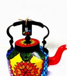 Turkish Treat Tea Kettle | Craft by artist Rithika Kumar | Aluminium