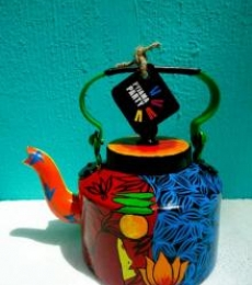 Rithika Kumar | Voodoo Love Tea Kettle Craft Craft by artist Rithika Kumar | Indian Handicraft | ArtZolo.com