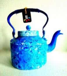 Whirlpool Textured Tea Kettle | Craft by artist Rithika Kumar | Aluminium