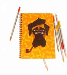 Rithika Kumar | Mastiff Notebook Craft Craft by artist Rithika Kumar | Indian Handicraft | ArtZolo.com