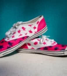 Summer Spunk Hand Painted Shoe | Craft by artist Rithika Kumar | Canvas