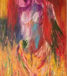 Flames - Her Endless Passion And Desire | Painting by artist Bhawna Jotshi | oil | Canvas