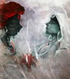 AYAAN GROUP | Acrylic Painting title Love on Canvas | Artist AYAAN GROUP Gallery | ArtZolo.com