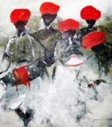 Folk Music Iv | Painting by artist Atma Group | acrylic | Canvas