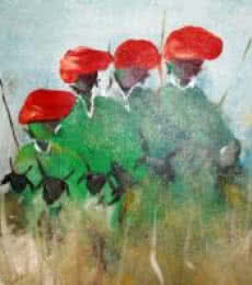 Folk Music Iii | Painting by artist Atma Group | acrylic | Canvas