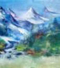 Valley View | Painting by artist AYAAN GROUP | acrylic | Canvas