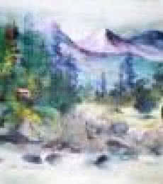 Landscape Acrylic Art Painting title 'Landscape ' by artist AYAAN GROUP