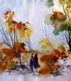 Landscape Watercolor Art Painting title 'Landscape ' by artist AYAAN GROUP