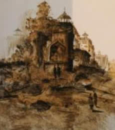 Monument | Painting by artist AYAAN GROUP | other | Paper