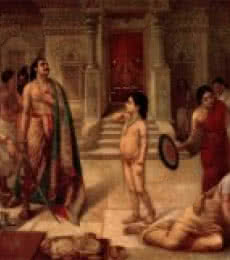 Raja Ravi Varma Reproduction | Oil Painting title Mohini Rukhmangadha on Canvas | Artist Raja Ravi Varma Reproduction Gallery | ArtZolo.com