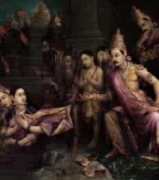 Sita Bhoomipravesh | Painting by artist Raja Ravi Verma Reproduction | oil | Canvas