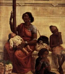 The Gypsies | Painting by artist Raja Ravi Varma Reproduction | oil | Canvas