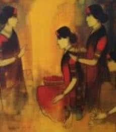 Flower Women 11 | Painting by artist Sachin Sagare | Acrylic | Canvas