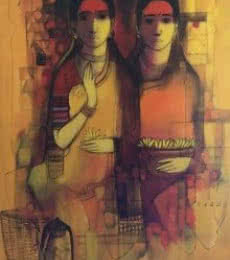 Friends | Painting by artist Sachin Sagare | Acrylic | Canvas