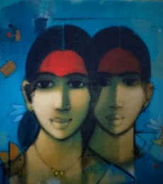 Simplicity   Painting by artist Sachin Sagare   acrylic   Canvas