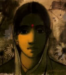 The Indian Woman | Painting by artist Sachin Sagare | acrylic | Canvas