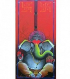 Ganesha   Painting by artist Anupam Pal   acrylic   Canvas