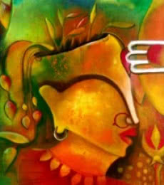 Anupam Pal | Acrylic Painting title 3rd Eye on Canvas | Artist Anupam Pal Gallery | ArtZolo.com