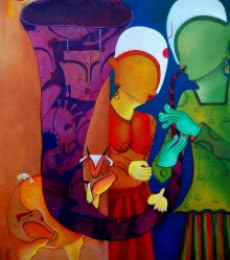 Bansidhar | Painting by artist Anupam Pal | acrylic | Canvas