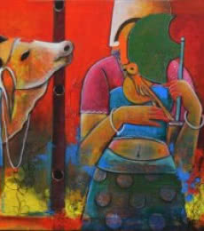 Untitled 10 | Mixed_media by artist Anupam Pal | Canvas